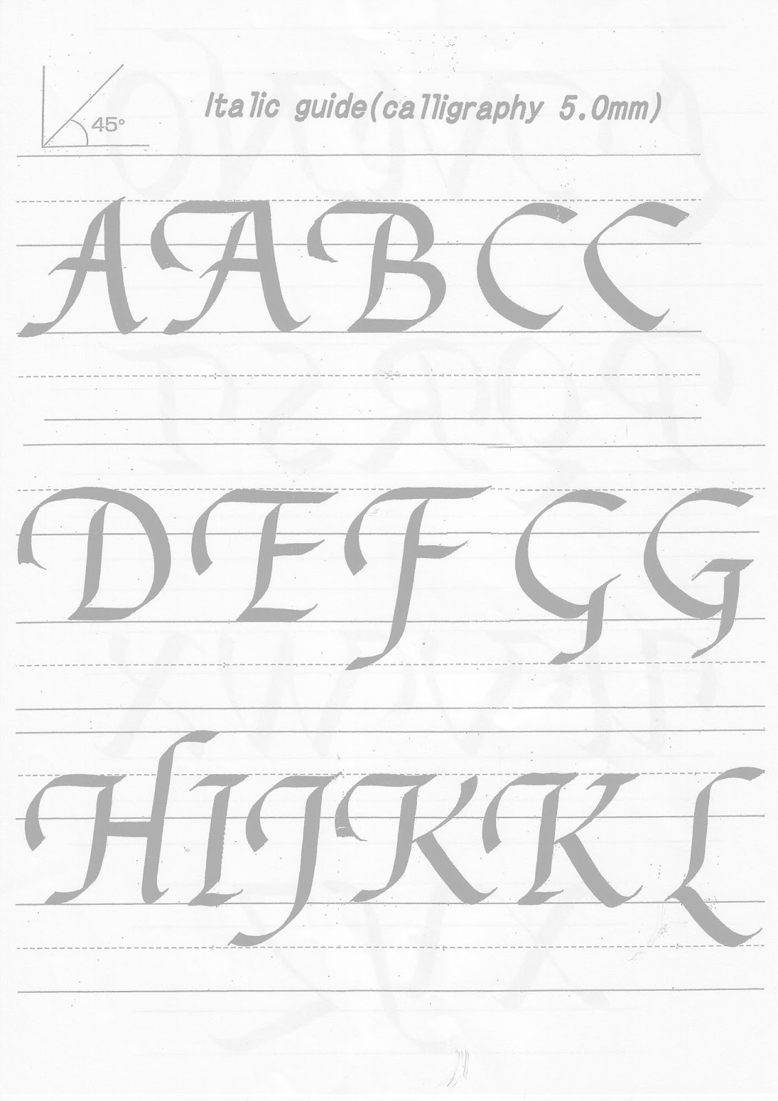 Kuretake Uk Blog Calligraphy Practise Sheets