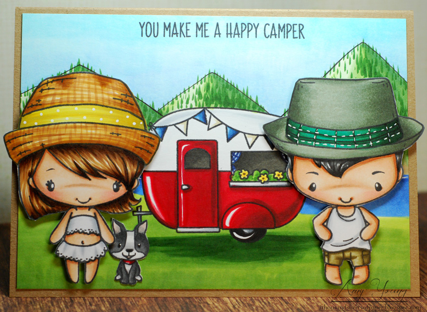 Stamps The Greeting Farm Sunny Kit And Mini Remix Boys Set Avery Elle Glamper Campers Ink Memento Tuxedo Black Sharpie White Marker