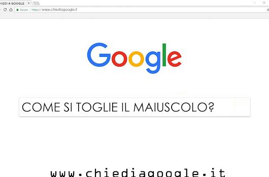 www.chiediagoogle.it