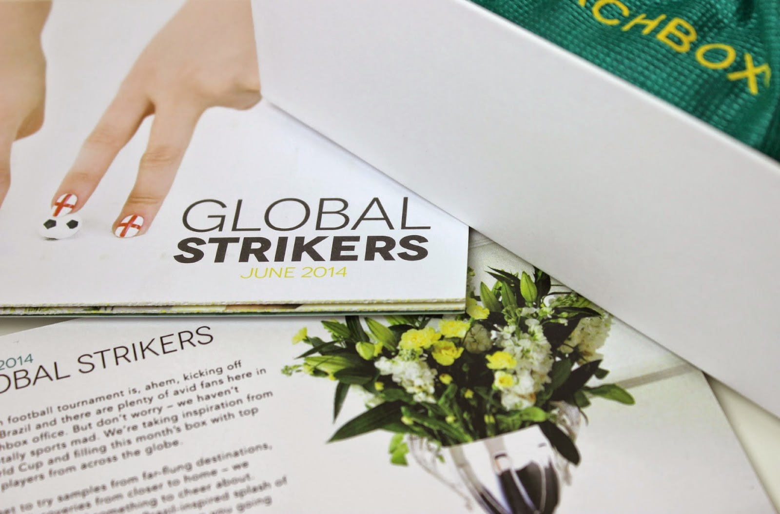 A picture of the June World Cup themed Global Strikers Birchbox