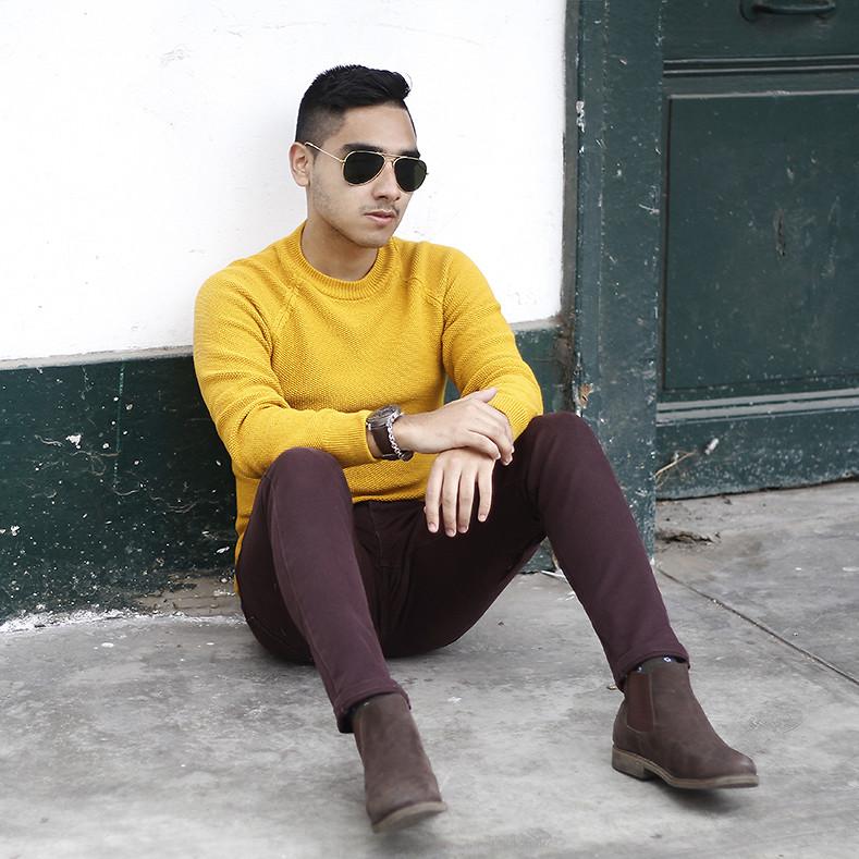 Look Masculino Amarelo Mostarda Tendencia Masculina Primavera Verão 2019