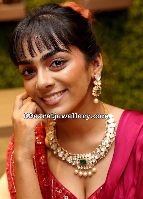 Rakshan Dakolhe in Diamond Necklace