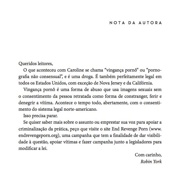 texto do livro profundo de Robin York