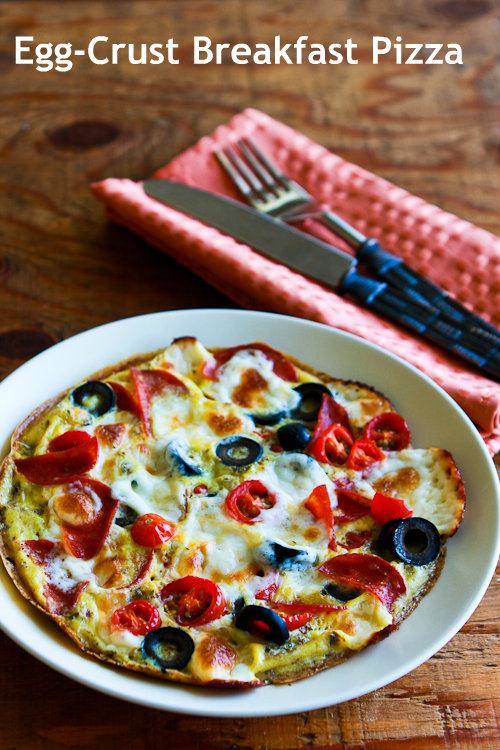 Egg Crust Breakfast Pizza