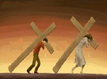 Resultado de imagen de seguir a cristo con la cruz