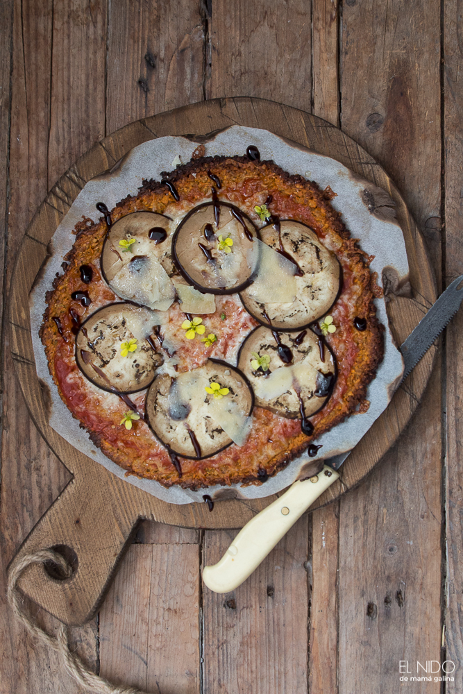 Sweet potato pizza  with eggplant
