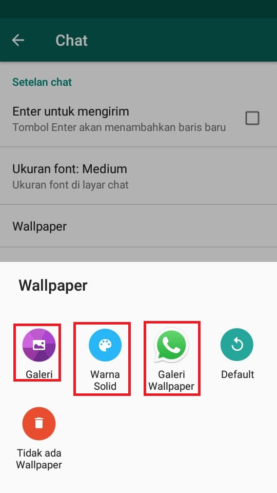 Cara Mengganti Background Latar Belakang Chat Whatsapp