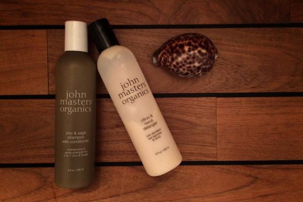 John Masters Organics, shampooing zinc et sauge et après-shampooing citrus et néroli