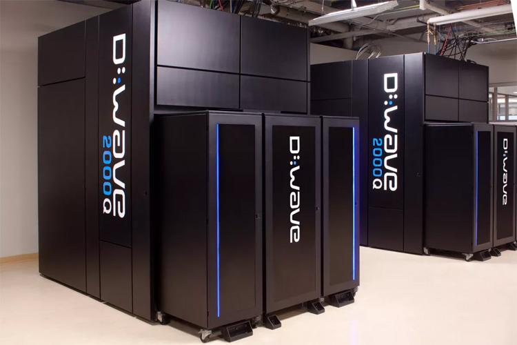A D-Wave quantum computer at Quantum Artificial Intelligence Laboratory (QuAIL).