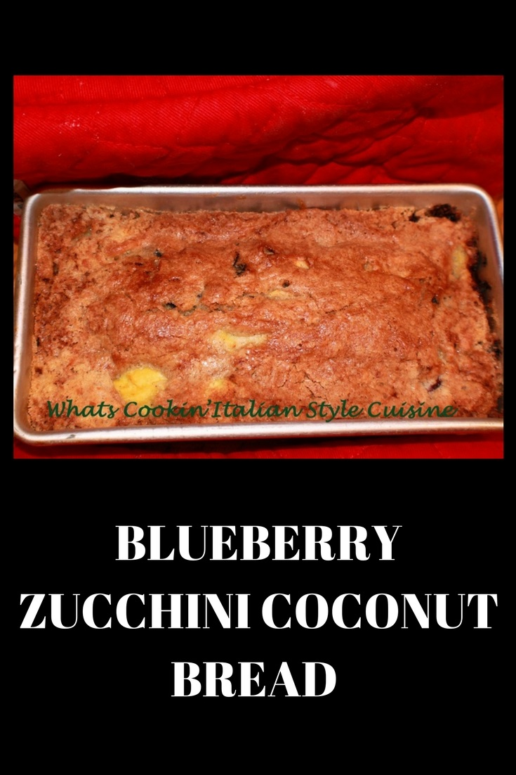 Blueberry Zucchini Coconut Bread