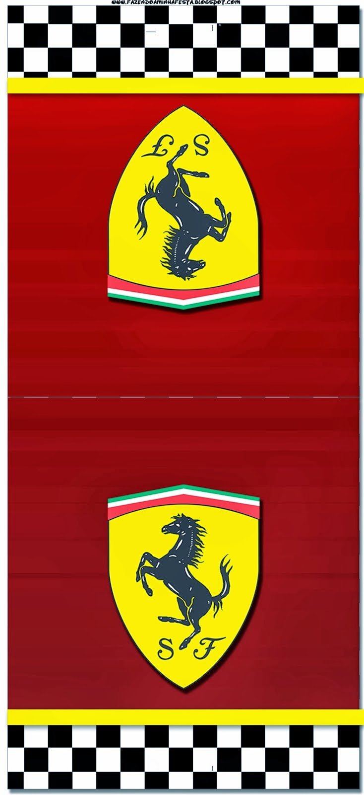 ferrari  free printable cards or invitations