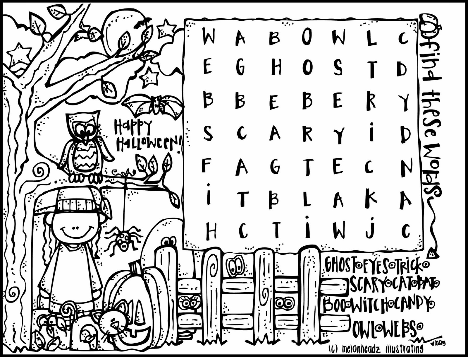 MelonHeadz: A Halloween Coloring Page