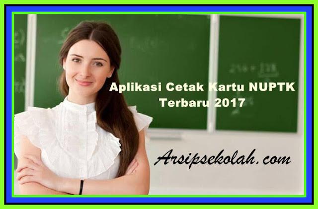 Download Aplikasi Cetak Kartu NUPTK 2017