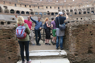 Rome Colosseum has good views from Level 1, but it's crowded sometimes.