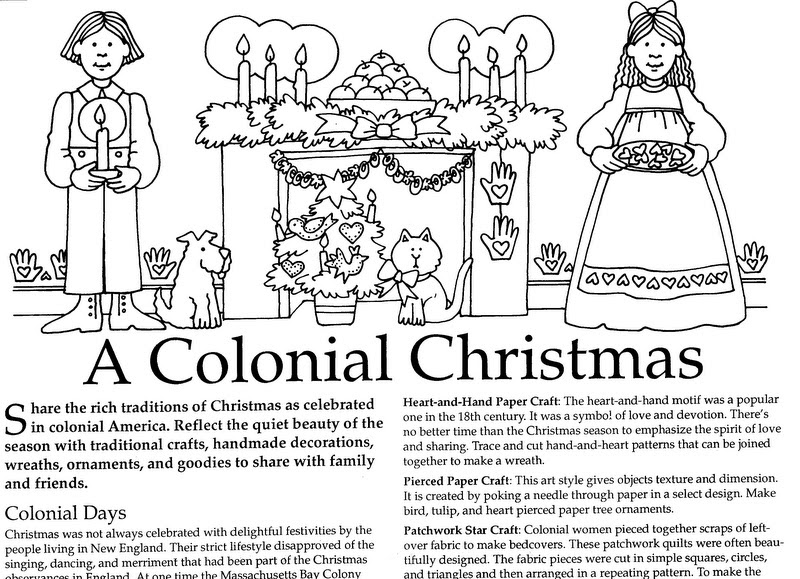 ELEMENTARY SCHOOL ENRICHMENT ACTIVITIES: COLONIAL CHRISTMAS