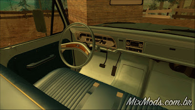 Mod Ford F-100 70' (Sadler) para GTA SA (interior)