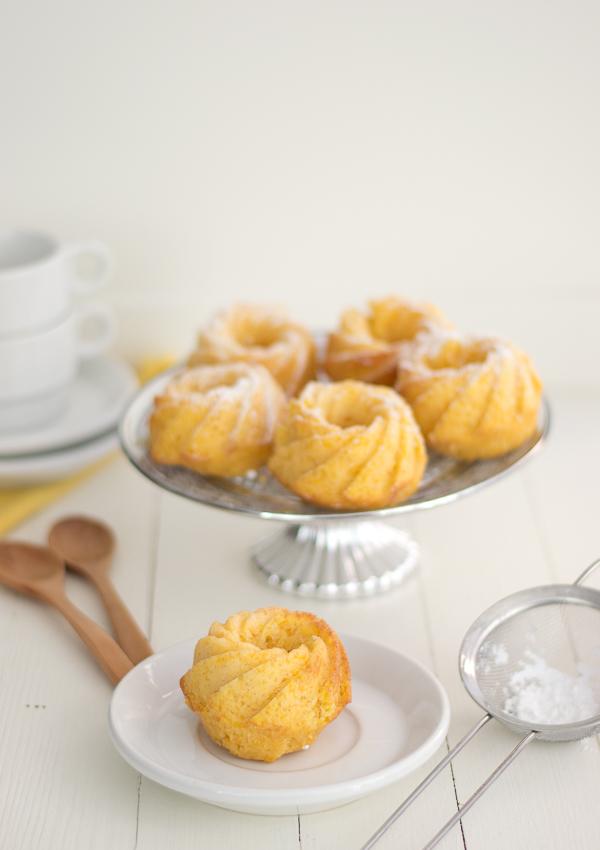 Minis Bundt cake de calabaza