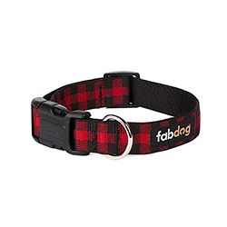 Fabdog Buffalo Check Collar