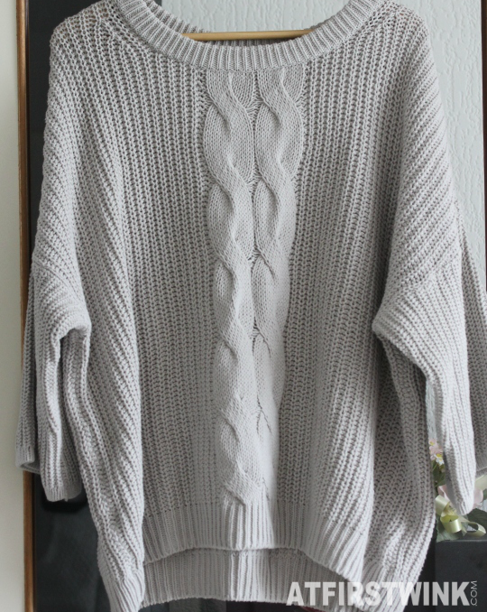 H&M light grey knitted sweater bought at outlet store in Rotterdam