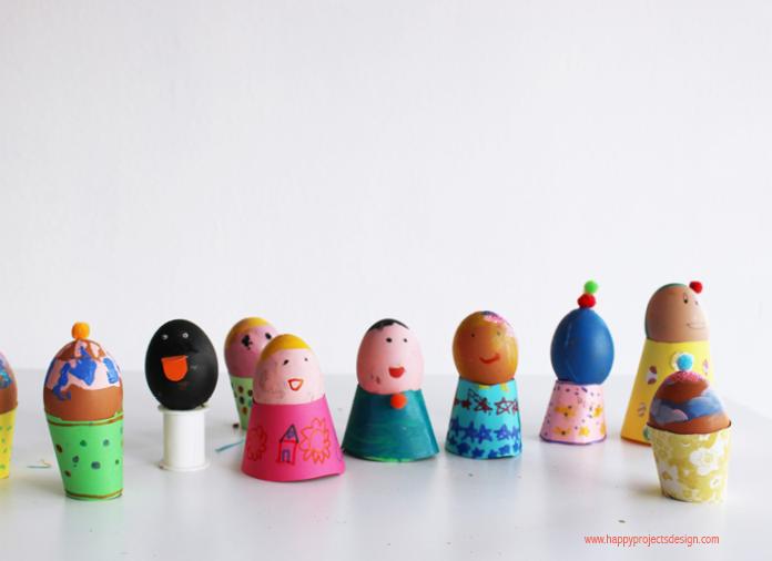 Decorar huevos de pascua: personajes