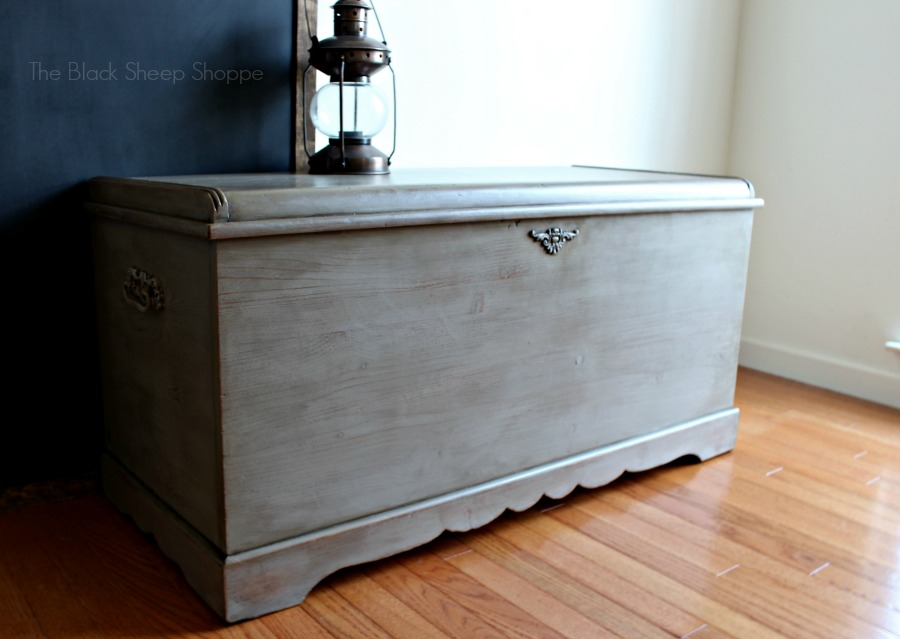 Cedar chest from 1951 was given a makeover with Coco Chalk Paint by Annie Sloan.