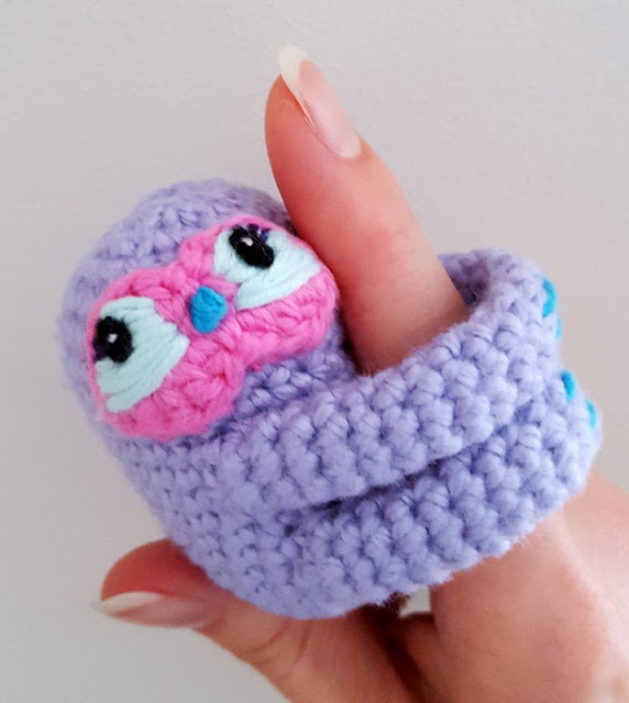 crochet finger sloth