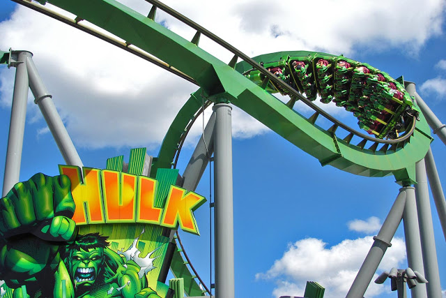 Hulk en Islands of Adventure en Orlando