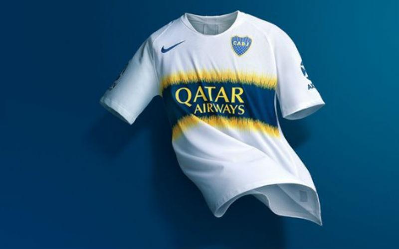 Boca Juniors Jersey Away 2018/2019 with Qatar Airways logo