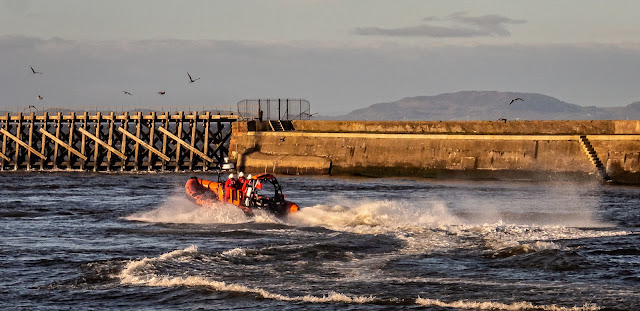 Photo of the inshore rescue boat in Maryport Basin