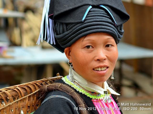 close up, people, street portrait, China, Yunnan, hill tribe, ethnic minority, traditional costume, Laomeng, Yao people
