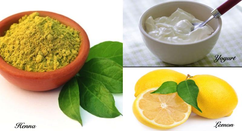 Henna, Yogurt, and Lemon Hair Conditioner