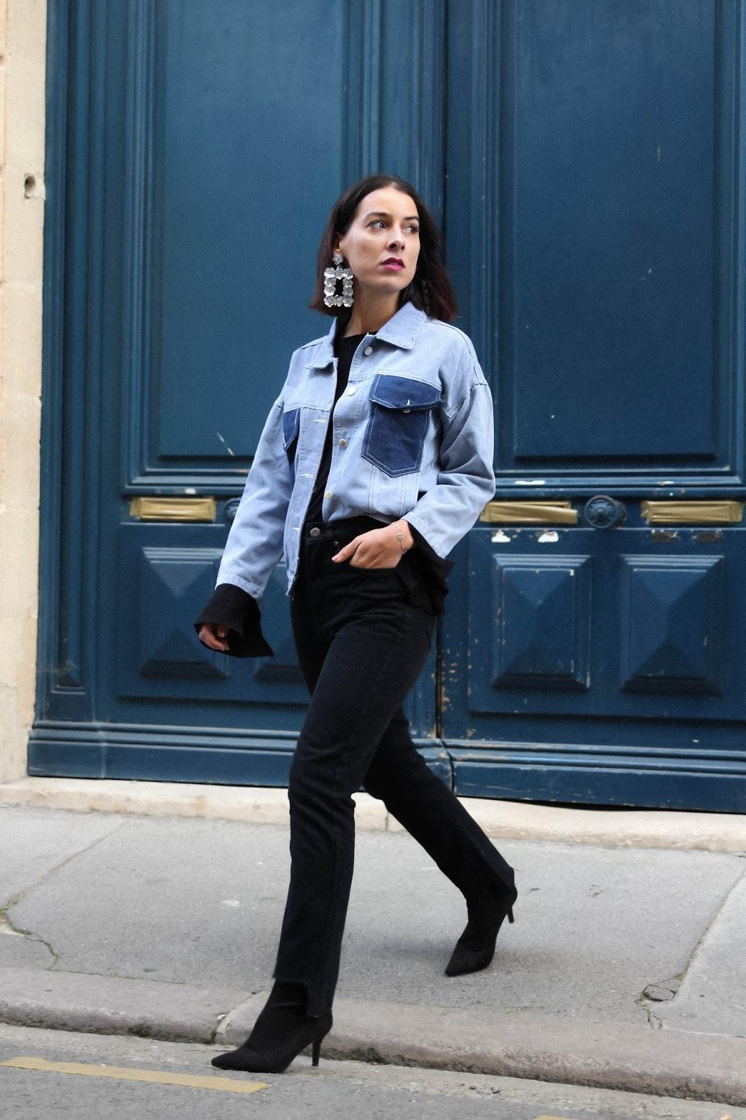 idée de look et tendance au total look en jean , veste en denim