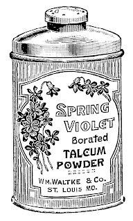 beauty product vintage powder illustration clipart