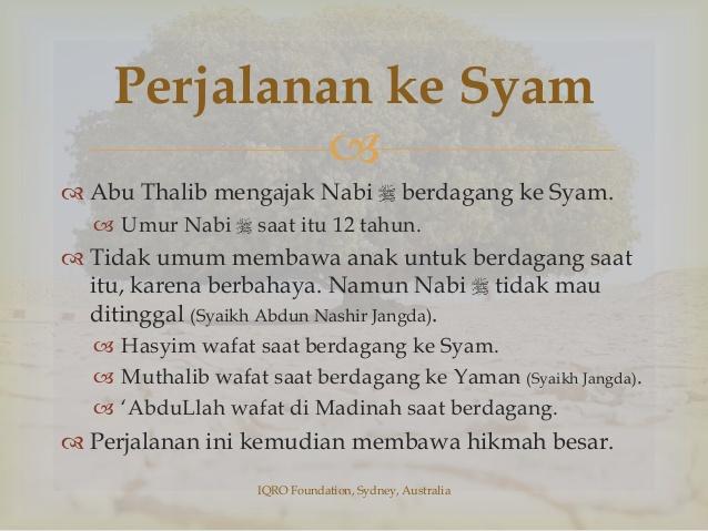 Rasulullah Ke Syam Bersama Abu Thalib