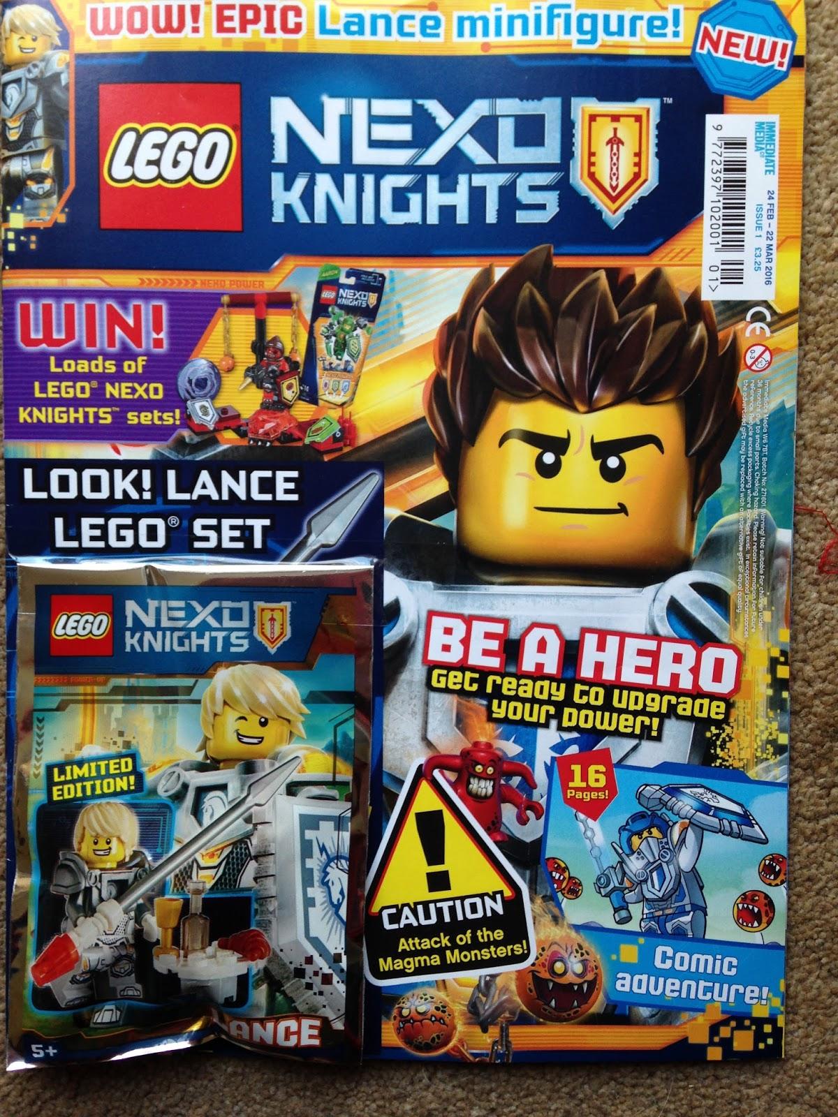 Lego Nexo Knights Magazine Bakes Books And My Boys