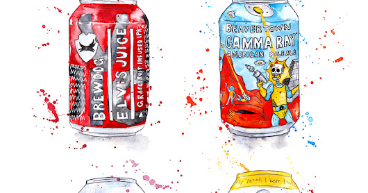 Amy Holliday Illustration : Stylist Magazine // The Summer of Craft Beers (1 of 2)
