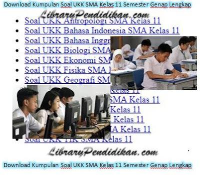 Download Kumpulan Soal UKK SMA Kelas 11 Semester Genap Lengkap