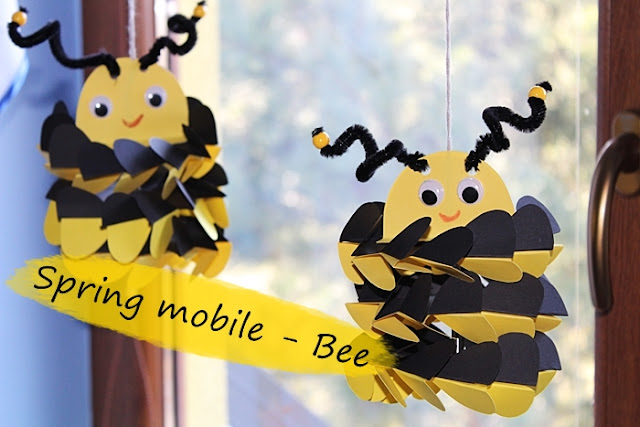 Spring mobile - bee