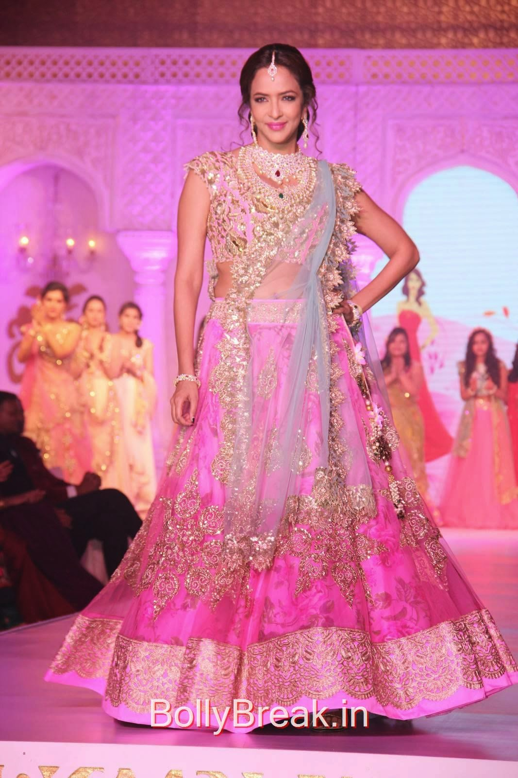 Tollywood Actress Manchu Lakshmi, Manchu Lakshmi Pics in Bridal Lehenga Choli