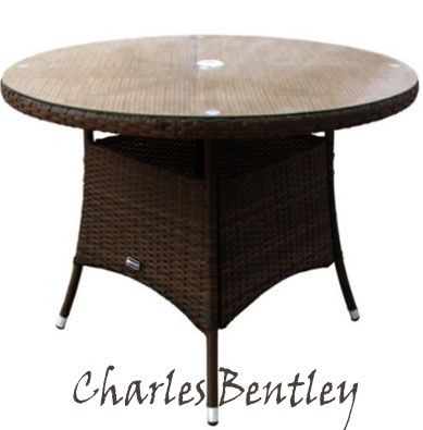 Charles Bentley Garden Indoor Outdoor Round Rattan Dining Table , Round Outdoor Daybeds UK, Outdoor Daybeds UK, Daybeds UK, Outdoor Daybeds at Amazon.co.uk, Amazon.co.uk, Best Outdoor Daybeds, Outdoor Furniture, Quality Outdoor Daybeds,