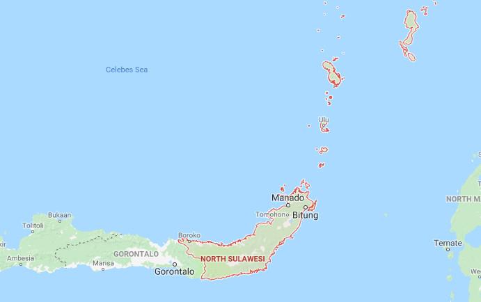 Peta Sulawesi UTARA Lengkap HD (Google Map)