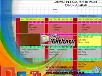 Download Contoh Format Daftar Pelajaran di Kelas Paud TK KB TPA SPS Format Excel Gratis