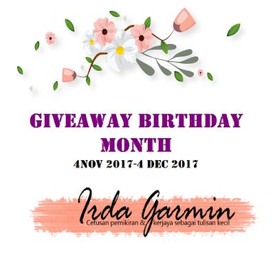Giveaway pertama dari blog irdagarmin, blogger, blog, hadiah, buku motivasi, senarai, peserta, pemenang,