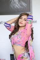 Angela Krislinzki Rogue Movie Fame Telugu Actress in Saree Backless Choli 041.JPG