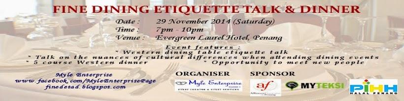 Fine Dining Etiquette Talk   Dinner  Dress code for this event 91226b998