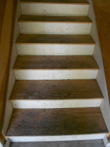 Painted Garage Stairs - Shine Light