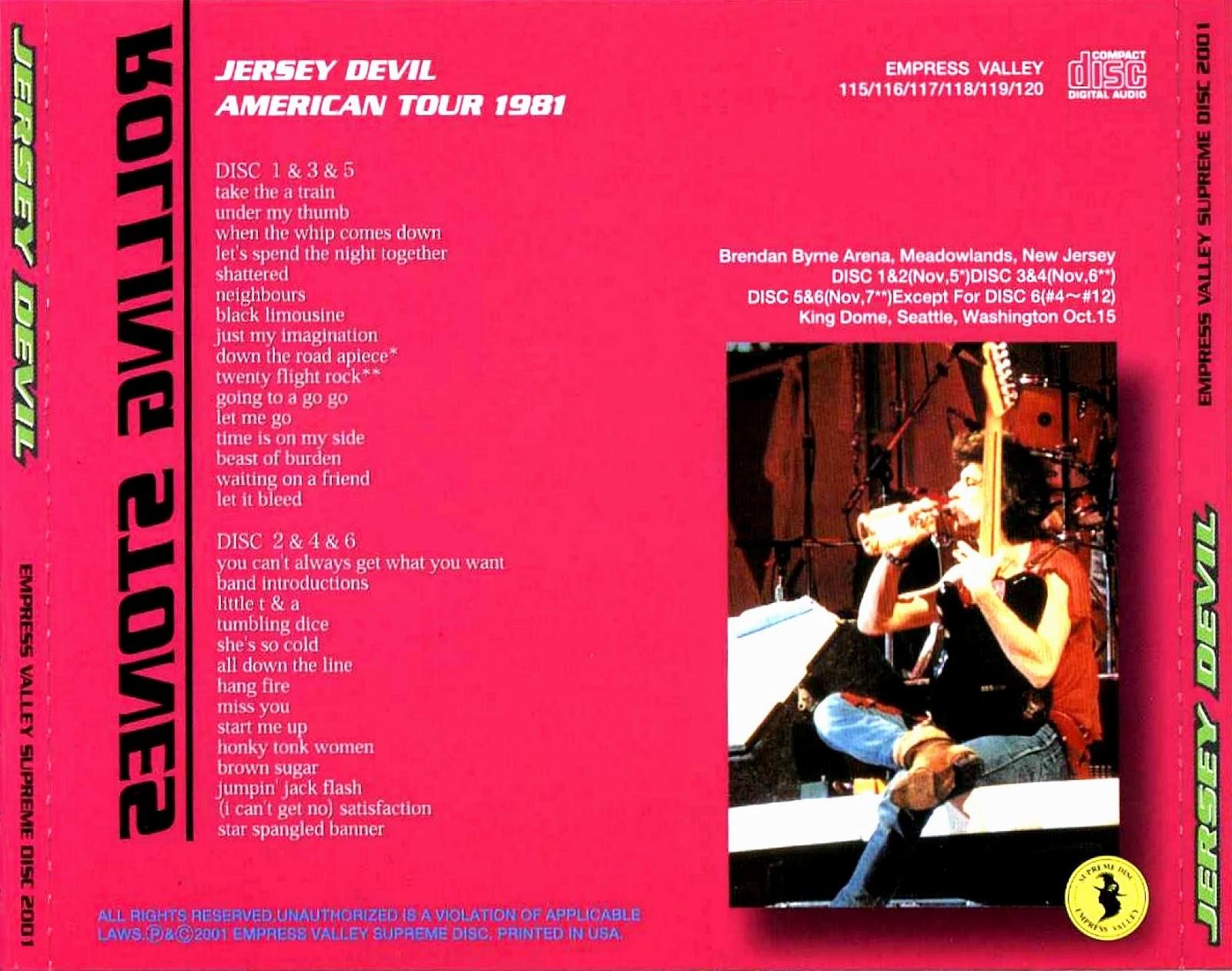 Bootleg Rambler The Rolling Stones 1981 11 05 06 07