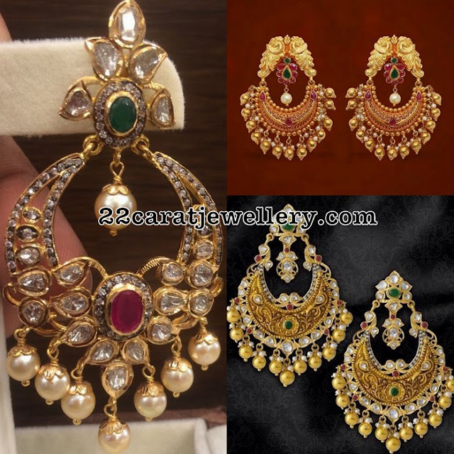 Antique Chandbalis with Soft Gold Balls