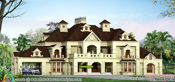 Luxury Colonial style 6 bedroom home architecture