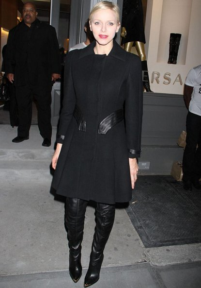 Princess Charlene of Monaco attended the Versace Private Dinner at the Waldorf Towers